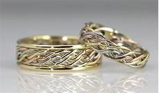 braided unique wedding rings handmade by artist todd alan
