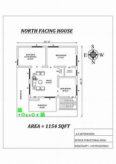 north facing house plan as per vastu shastra cadbull