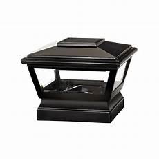 veranda 5 in 5 in black vinyl solar light cap with black base 132251 the home depot