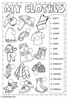 worksheets for learning english as second language the clothes english as a second language esl worksheet