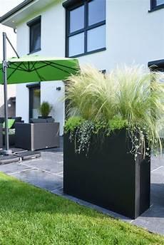 Sichtschutz Terrasse Pflanzkübel - pflanzk 252 bel raumteiler fiberglas quot elemento quot anthrazit