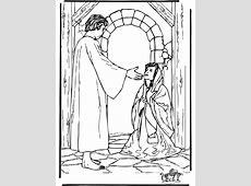 Aankondiging Maria   Bijbel kleurplaten Nieuwe Testament