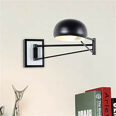 black modern wall sconce adjustable arm metal wall l foldable long swing arm wall light for