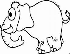 Gratis Malvorlagen Elefant Elefant Mit Grossen Augen Ausmalbild Malvorlage Comics