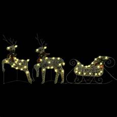 rentier beleuchtet rentier beleuchtet led licht mit schlitten weihnachtsdeko