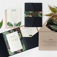 custom botanical foil wedding invitations from paper rock scissor minneapolis minnesota in
