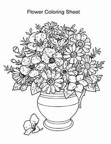 10 flower coloring sheets for and all esl