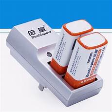 Doublepow Slot Rechargeable Battery Charger by Newest Doublepow Two Slots 9v Battery Charger Dp K19