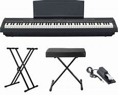Yamaha P 115 88 Key Digital Piano Black With Stand Pedal