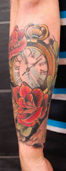 clock tattoo truetattoos