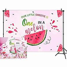 5x3ft 7x5ft Watermelon Melon Birthday Photography by Huayi 5x3ft One In A Melon Backdrop Summer
