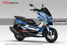 Modifikasi Yamaha Nmax 2018 by Modifikasi Striping Untuk Yamaha Nmax Blue Versi 2018 Blue