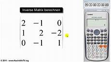 inverse matrix berechnen mit taschenrechner