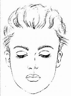 colouring pages of s faces 17844 makeup worksheets print out this sheet to practice your new makeup techniques on looking