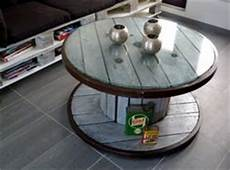 table basse bobine bois palettes on pallets pallet ideas and pallet
