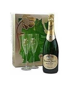 perrier jouet grand brut with glasses chagne
