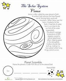 venus planet worksheet facts about venus worksheets venus and weather lesson plans