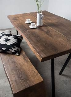 esstisch dunkles holz altholzdesign tisch mit edler dunkler f 228 rbung sunwood einrichtung deko tisch altholz