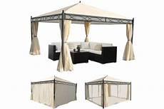 havepavillon 4x4m beige pavillon med myggenet og