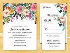 diy printable wedding invitation suite pdf wedding suite sublime watercolor floral wedding