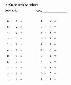1st grade math worksheet subtraction worksheets for 1st grade math activity shelter