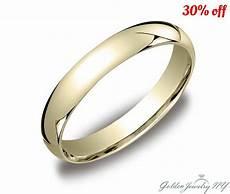 mens solid 10k yellow gold plain wedding band comfort fit 2mm 7mm ebay