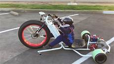 electric drift trike with tiny driver