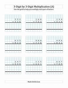 multiplication worksheets for grade 3 3 digit by 2 digit 4750 3 digit by 3 digit multiplication with grid support a