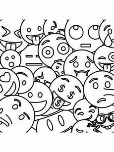 Emoji Malvorlagen Gratis Smileys Zum Ausdrucken Und Ausmalen