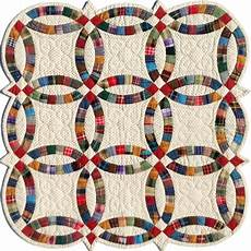 miniature double wedding ring template quilting from the heartland