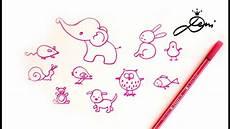 Einfache Tiere Schnell Zeichnen Lernen How To Draw Easy