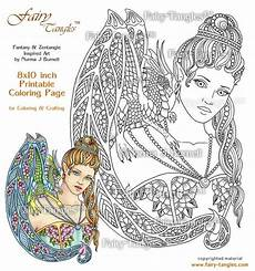 coloring pages dragons and fairies 16609 rainbow tangles printable coloring