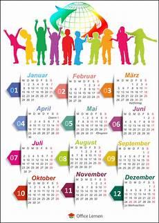 kostenlose kalendervorlagen 2018 office lernen
