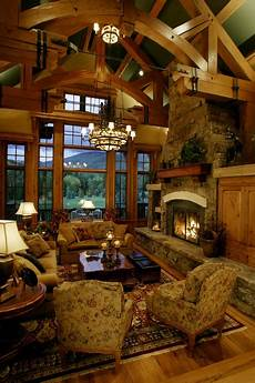 storm mountain ranch house rustic living room denver