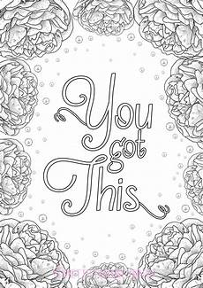free printable coloring pages for adults 17634 you got this colouring quote peonies by prettypositiveprints coloring books sweary