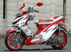 Modif Mio Sporty by Motor Drag Modif Mio Sporty Merah Putih Maximal