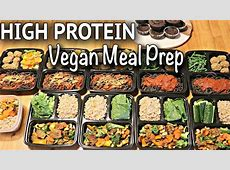 VEGAN MEAL PREP FOR THE WEEK (HIGH PROTEIN / gluten free