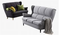 Ikea Strandmon Sofa - 3d max ikea strandmon three seat sofa