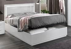 lit avec coffre de rangement laqu 233 blanc