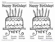 birthday color by number worksheet 16090 color by number birthday cake by gavin teachers pay teachers