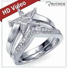 0 70 ct star shaped diamond engagement ring wedding band matching set white gold ebay