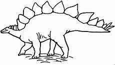 Ausmalbilder Dinosaurier Stegosaurus Stehender Stegosaurus Ausmalbild Malvorlage Tiere