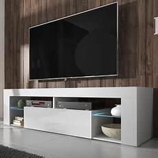 meuble tv a hugo meuble tv blanc mat blanc brillant avec led