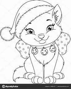 Malvorlage Katze Weihnachten Malvorlagen Weihnachten Katze Stockvektor 169 Malyaka