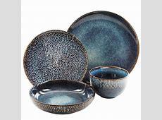 GIBSON elite Matisse 16 Piece Cobalt Double Bowl