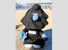 Islam in Europe: Netherlands: Smurf with a burka