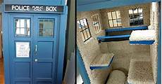 tardis cat house plans mystery fanfare tardis cat house