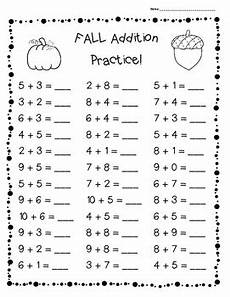 fall addition practice worksheet 3 leveled sheets for back to school