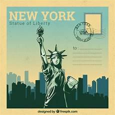Malvorlagen New York Gratis New York Postkarte Vorlage Mit Handgezeichneten Stil