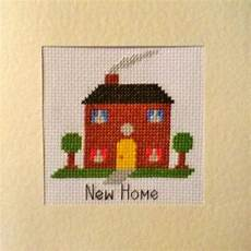 new home house design cross stitch card kit 5 5 5 5